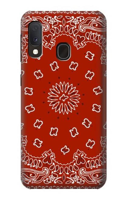 S3355 Bandana Red Pattern Case For Samsung Galaxy A20e