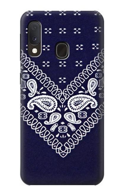 S3357 Navy Blue Bandana Pattern Case For Samsung Galaxy A20e