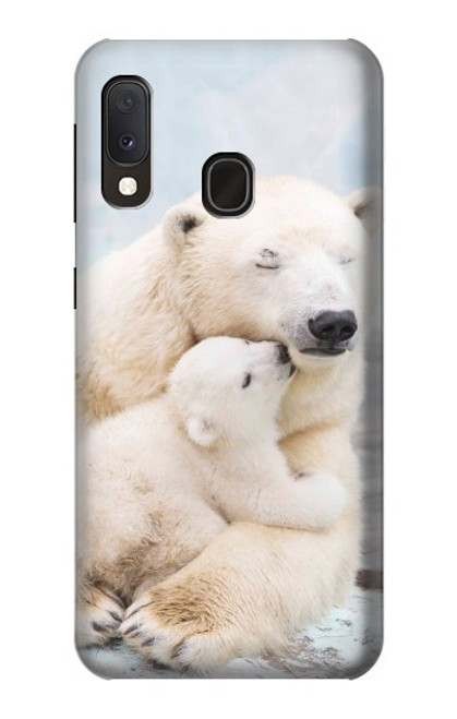 S3373 Polar Bear Hug Family Case For Samsung Galaxy A20e