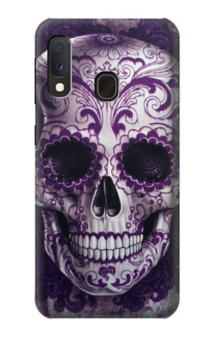 S3582 Purple Sugar Skull Case For Samsung Galaxy A20e