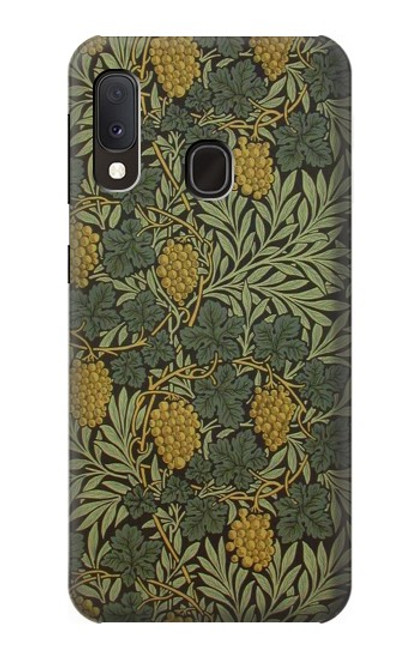 S3662 William Morris Vine Pattern Case For Samsung Galaxy A20e