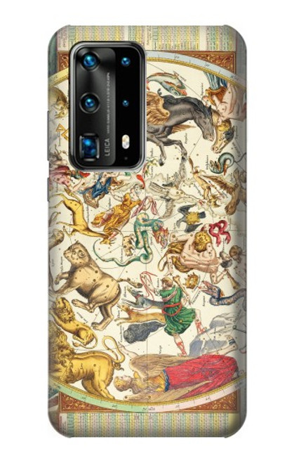 S3145 Antique Constellation Star Sky Map Case For Huawei P40 Pro