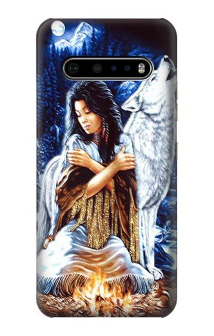 S0147 Grim Wolf Indian Girl Case For LG V60 ThinQ 5G