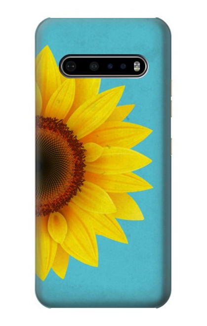 S3039 Vintage Sunflower Blue Case For LG V60 ThinQ 5G