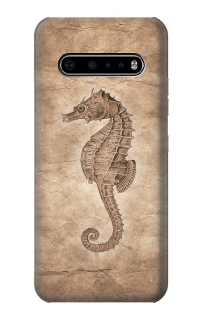 S3214 Seahorse Skeleton Fossil Case For LG V60 ThinQ 5G