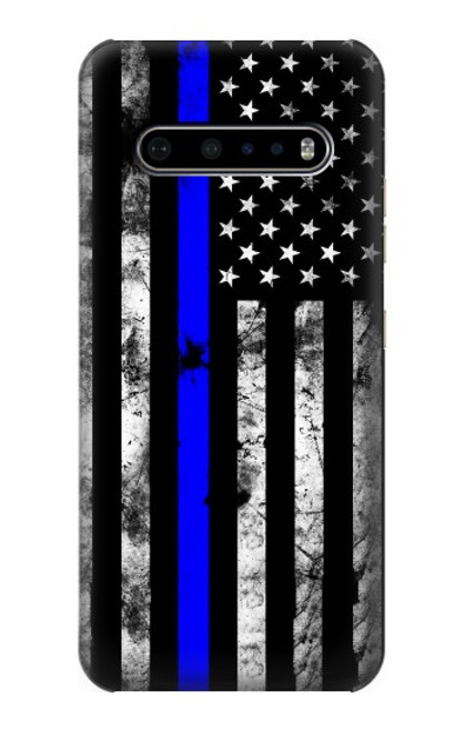 S3244 Thin Blue Line USA Case For LG V60 ThinQ 5G