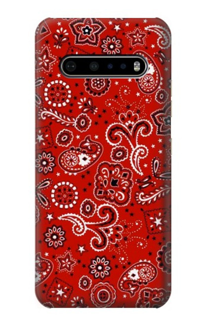 S3354 Red Classic Bandana Case For LG V60 ThinQ 5G