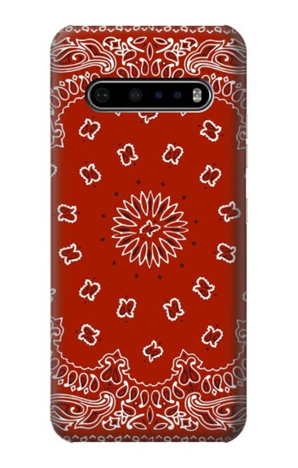 S3355 Bandana Red Pattern Case For LG V60 ThinQ 5G