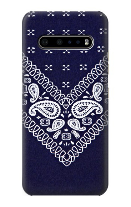 S3357 Navy Blue Bandana Pattern Case For LG V60 ThinQ 5G