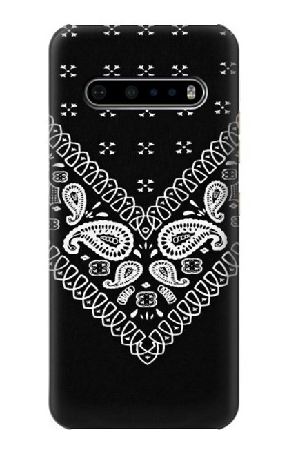 S3363 Bandana Black Pattern Case For LG V60 ThinQ 5G