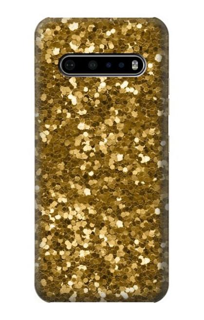S3388 Gold Glitter Graphic Print Case For LG V60 ThinQ 5G