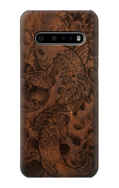 S3405 Fish Tattoo Leather Graphic Print Case For LG V60 ThinQ 5G
