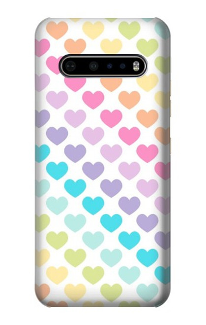 S3499 Colorful Heart Pattern Case For LG V60 ThinQ 5G