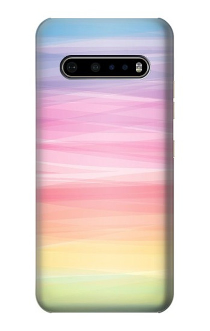 S3507 Colorful Rainbow Pastel Case For LG V60 ThinQ 5G