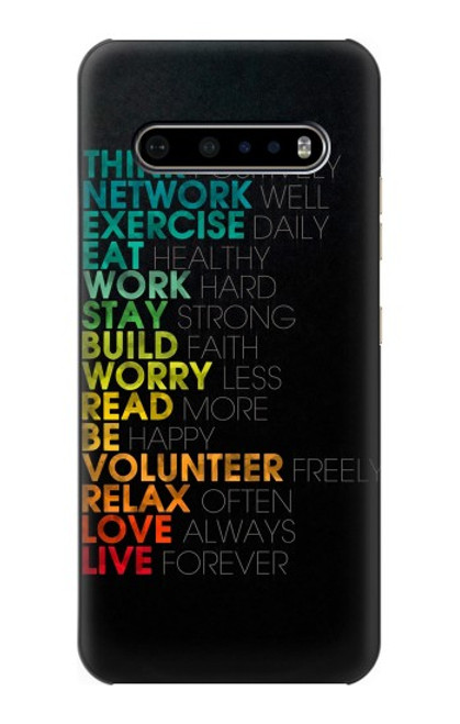 S3523 Think Positive Words Quotes Case For LG V60 ThinQ 5G