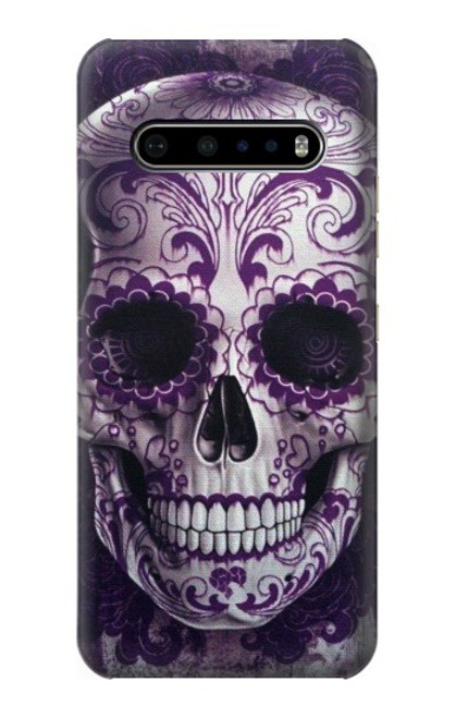 S3582 Purple Sugar Skull Case For LG V60 ThinQ 5G