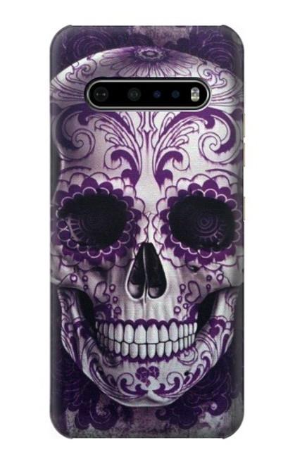 S3582 Purple Sugar Skull Case For LG V60 ThinQ 5G