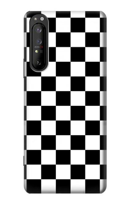 S1611 Checkerboard Chess Board Case For Sony Xperia 1 II