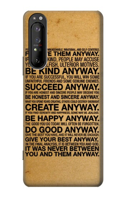 S2513 Mother Teresa Anyway Quotes Case For Sony Xperia 1 II