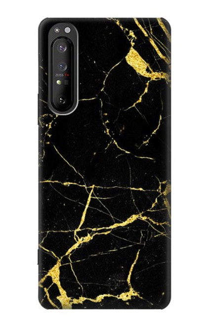 S2896 Gold Marble Graphic Printed Case For Sony Xperia 1 II