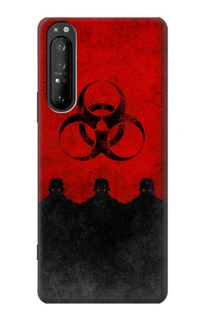 S2917 Biohazards Virus Red Alert Case For Sony Xperia 1 II
