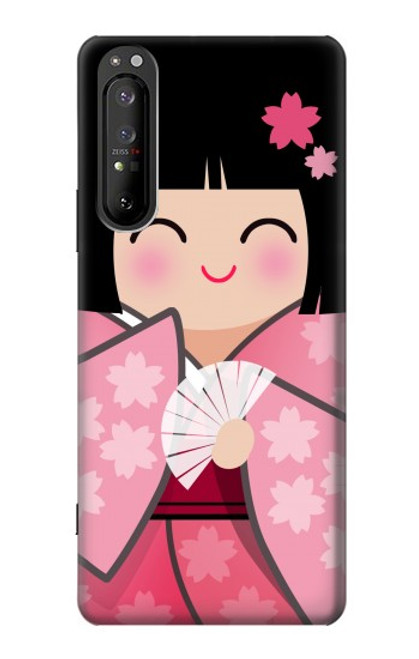 S3042 Japan Girl Hina Doll Kimono Sakura Case For Sony Xperia 1 II