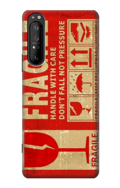 S3552 Vintage Fragile Label Art Case For Sony Xperia 1 II
