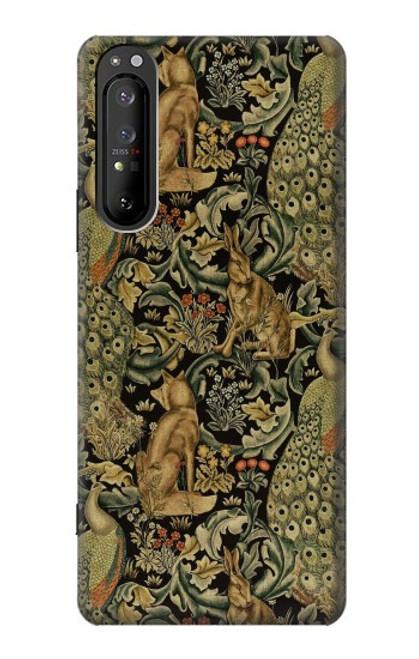 S3661 William Morris Forest Velvet Case For Sony Xperia 1 II