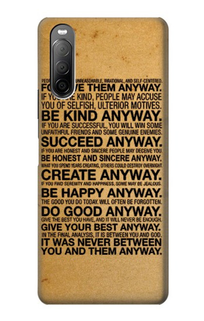 S2513 Mother Teresa Anyway Quotes Case For Sony Xperia 10 II