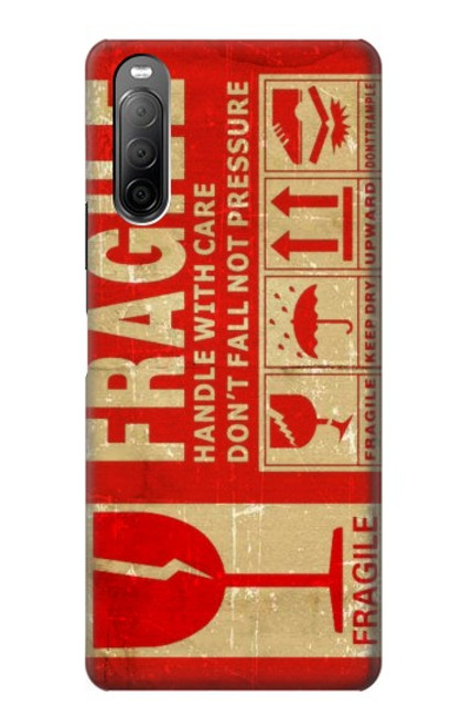 S3552 Vintage Fragile Label Art Case For Sony Xperia 10 II