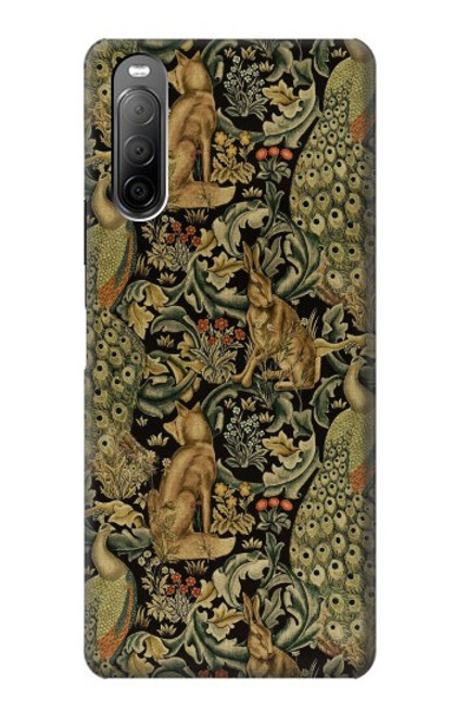 S3661 William Morris Forest Velvet Case For Sony Xperia 10 II