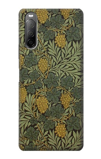 S3662 William Morris Vine Pattern Case For Sony Xperia 10 II