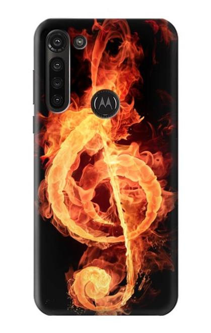 S0493 Music Note Burn Case For Motorola Moto G8 Power