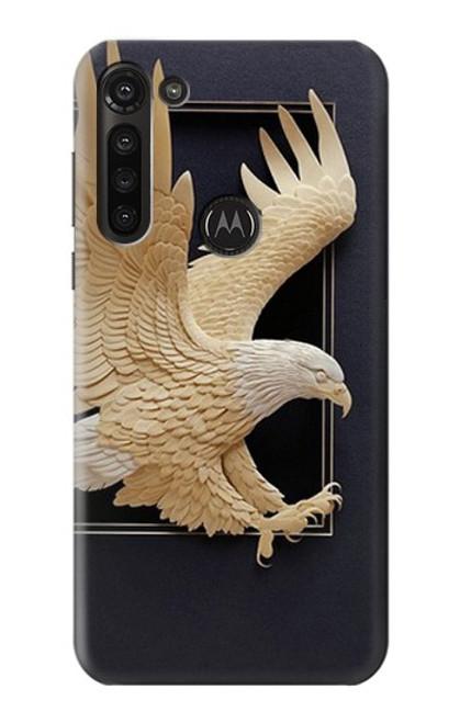 S1383 Paper Sculpture Eagle Case For Motorola Moto G8 Power