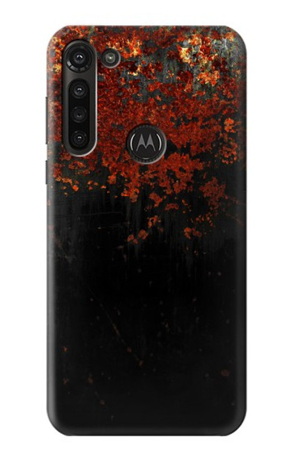 S3071 Rusted Metal Texture Graphic Case For Motorola Moto G8 Power
