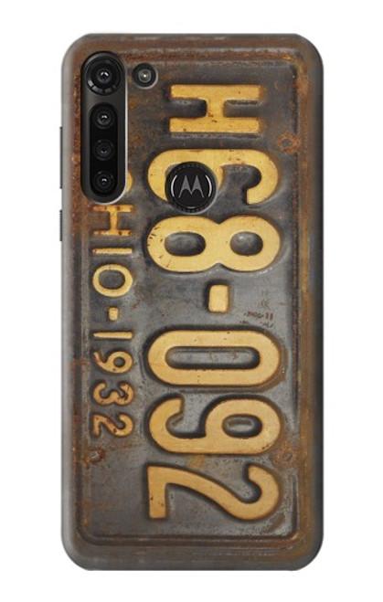 S3228 Vintage Car License Plate Case For Motorola Moto G8 Power