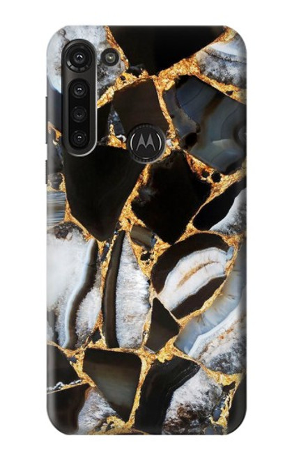 S3419 Gold Marble Graphic Print Case For Motorola Moto G8 Power