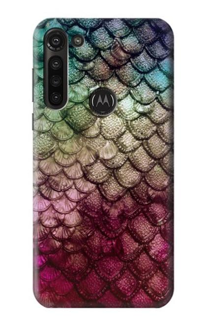 S3539 Mermaid Fish Scale Case For Motorola Moto G8 Power