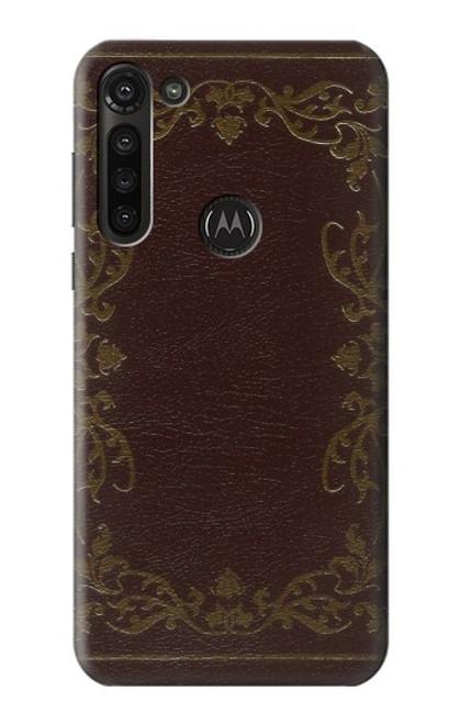 S3553 Vintage Book Cover Case For Motorola Moto G8 Power