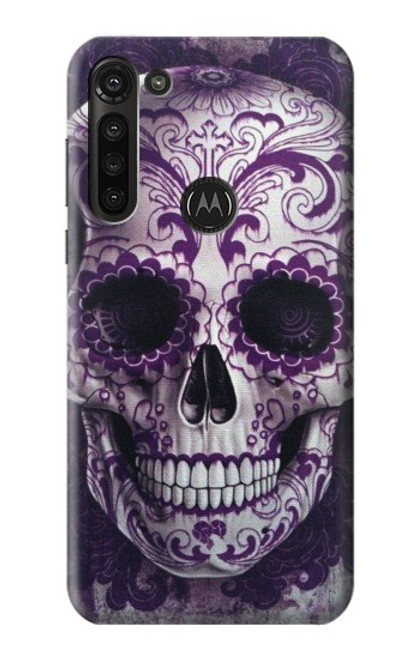 S3582 Purple Sugar Skull Case For Motorola Moto G8 Power