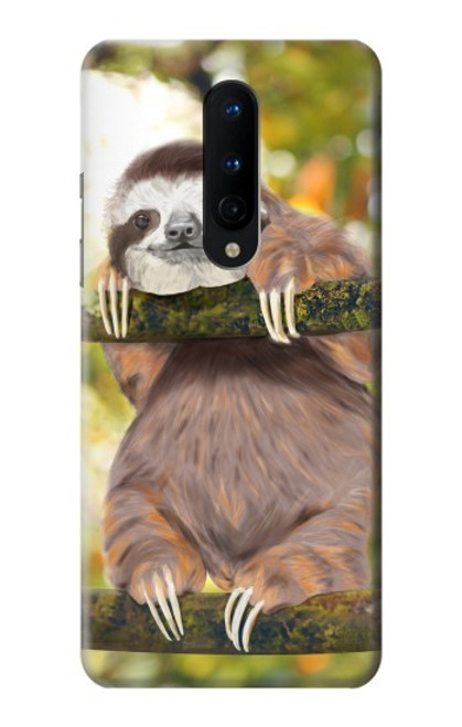 S3138 Cute Baby Sloth Paint Case For OnePlus 8