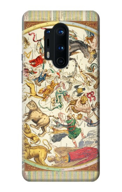 S3145 Antique Constellation Star Sky Map Case For OnePlus 8 Pro