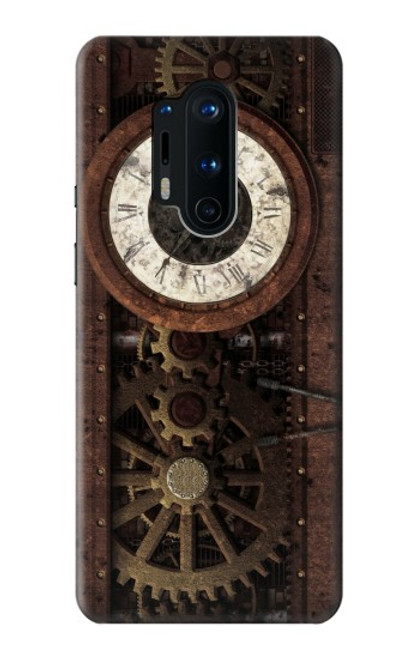 S3221 Steampunk Clock Gears Case For OnePlus 8 Pro