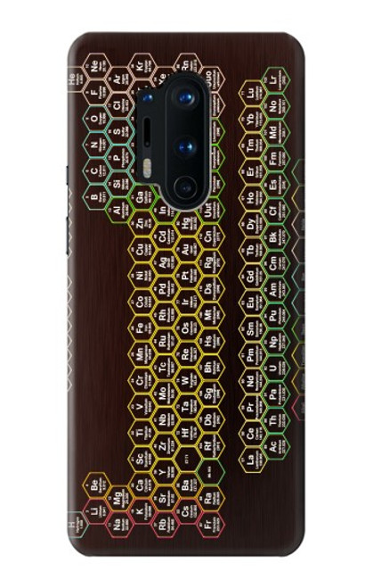 S3544 Neon Honeycomb Periodic Table Case For OnePlus 8 Pro