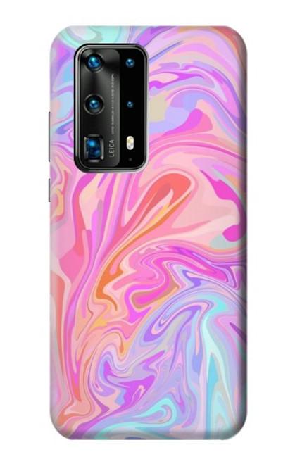 S3444 Digital Art Colorful Liquid Case For Huawei P40 Pro Plus