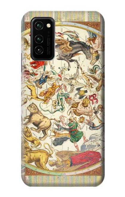 S3145 Antique Constellation Star Sky Map Case For Honor V30 Pro