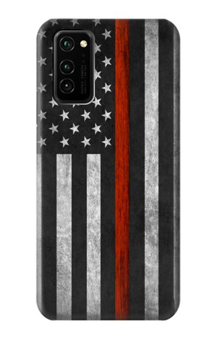 S3472 Firefighter Thin Red Line Flag Case For Honor V30 Pro