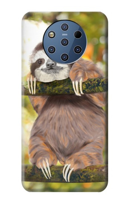S3138 Cute Baby Sloth Paint Case For Nokia 9 PureView