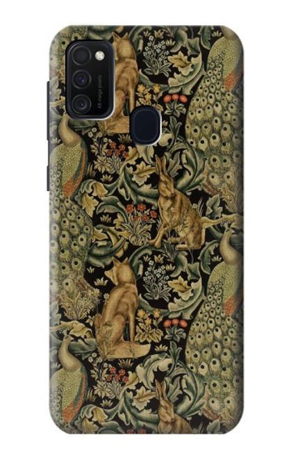 S3661 William Morris Forest Velvet Case For Samsung Galaxy M21
