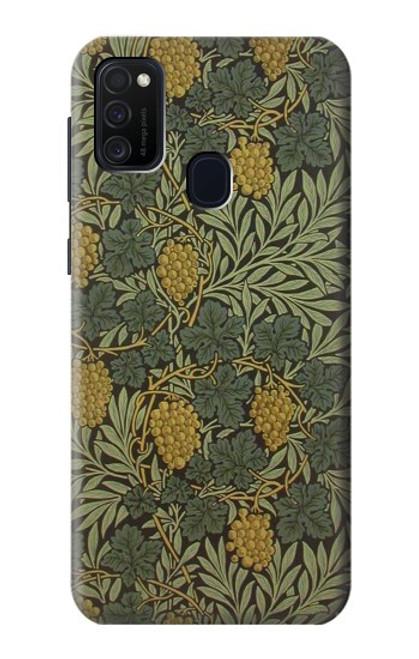 S3662 William Morris Vine Pattern Case For Samsung Galaxy M21